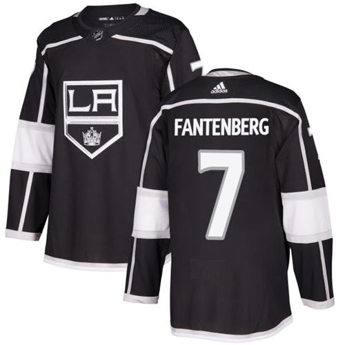 Adidas Men Los Angeles Kings 7 Oscar Fantenberg Black Home Authentic Stitched NHL Jersey