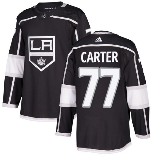 Adidas Men Los Angeles Kings 77 Jeff Carter Black Home Authentic Stitched NHL Jersey