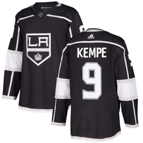 Adidas Men Los Angeles Kings 9 Adrian Kempe Black Home Authentic Stitched NHL Jersey