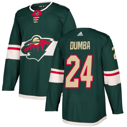 Adidas Men Minnesota Wild 24 Matt Dumba Green Home Authentic Stitched NHL Jersey