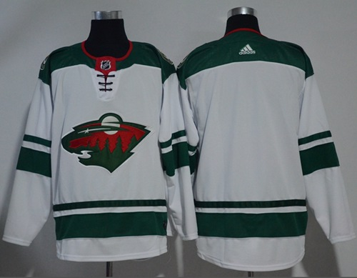Adidas Men Minnesota Wild Blank White Road Authentic Stitched NHL Jersey