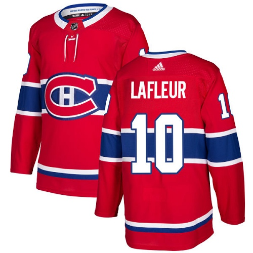 Adidas Men Montreal Canadiens 10 Guy Lafleur Red Home Authentic Stitched NHL Jersey