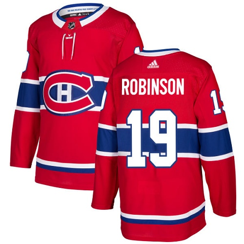 Adidas Men Montreal Canadiens 19 Larry Robinson Red Home Authentic Stitched NHL Jersey