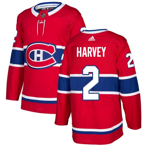 Adidas Men Montreal Canadiens 2 Doug Harvey Red Home Authentic Stitched NHL Jersey