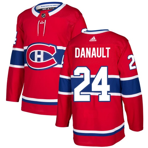Adidas Men Montreal Canadiens 24 Phillip Danault Red Home Authentic Stitched NHL Jersey