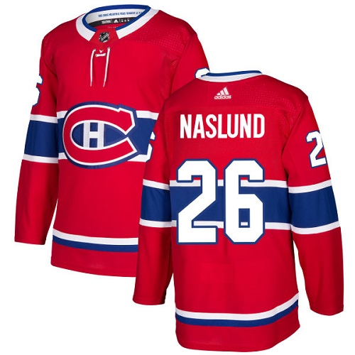 Adidas Men Montreal Canadiens 26 Mats Naslund Red Home Authentic Stitched NHL Jersey