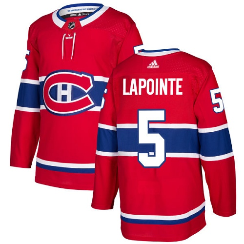 Adidas Men Montreal Canadiens 5 Guy Lapointe Red Home Authentic Stitched NHL Jersey