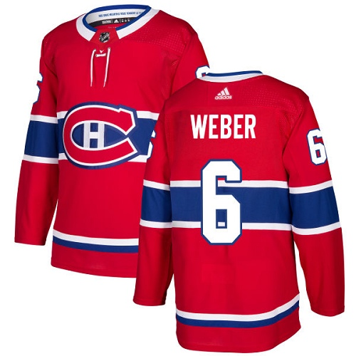 Adidas Men Montreal Canadiens 6 Shea Weber Red Home Authentic Stitched NHL Jersey