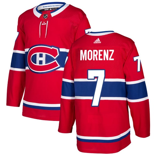 Adidas Men Montreal Canadiens 7 Howie Morenz Red Home Authentic Stitched NHL Jersey
