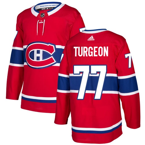 Adidas Men Montreal Canadiens 77 Pierre Turgeon Red Home Authentic Stitched NHL Jersey