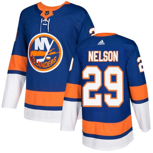 Adidas Men NEW York Islanders 29 Brock Nelson Royal Blue Home Authentic Stitched NHL Jersey