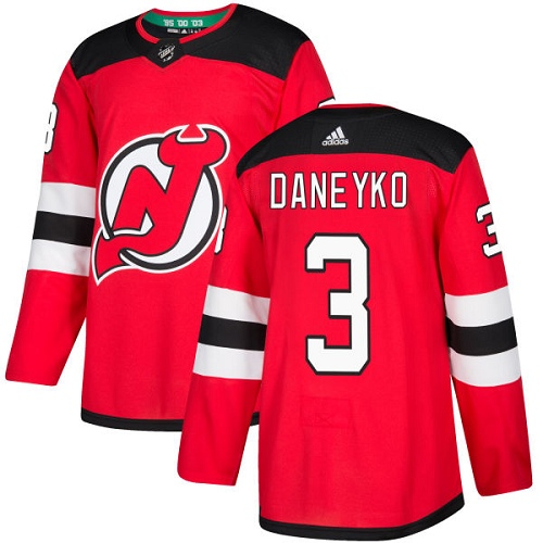 Adidas Men New Jersey Devils 3 Ken Daneyko Red Home Authentic Stitched NHL Jersey