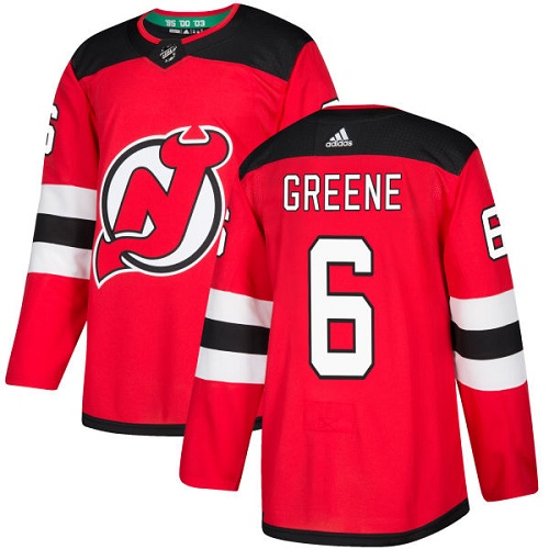 Adidas Men New Jersey Devils 6 Andy Greene Red Home Authentic Stitched NHL Jersey