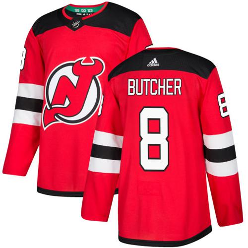 Adidas Men New Jersey Devils 8 Will Butcher Red Home Authentic Stitched NHL Jersey