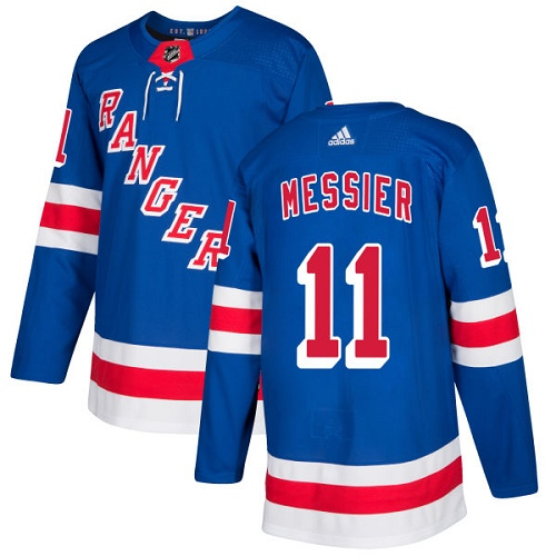 Adidas Men New York Rangers 11 Mark Messier Royal Blue Home Authentic Stitched NHL Jersey