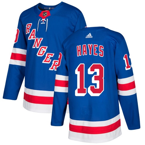 Adidas Men New York Rangers 13 Kevin Hayes Royal Blue Home Authentic Stitched NHL Jersey
