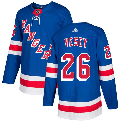 Adidas Men New York Rangers 26 Jimmy Vesey Royal Blue Home Authentic Stitched NHL Jersey