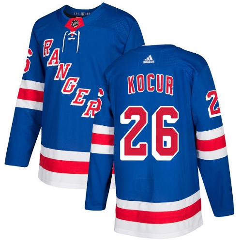 Adidas Men New York Rangers 26 Joe Kocur Royal Blue Home Authentic Stitched NHL Jersey