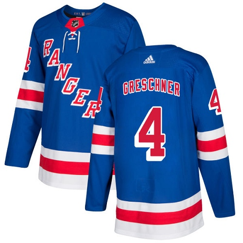 Adidas Men New York Rangers 4 Ron Greschner Royal Blue Home Authentic Stitched NHL Jersey