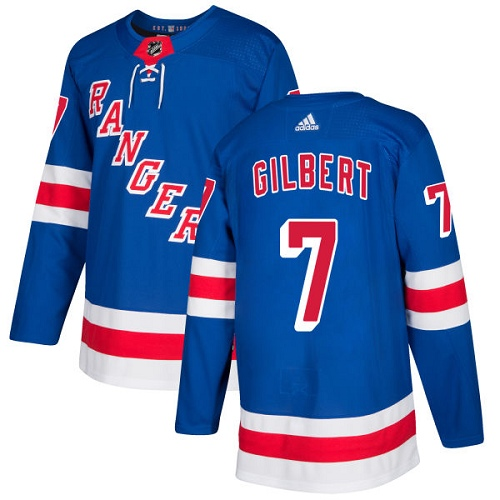 Adidas Men New York Rangers 7 Rod Gilbert Royal Blue Home Authentic Stitched NHL Jersey