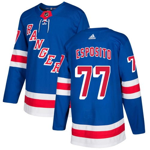 Adidas Men New York Rangers 77 Phil Esposito Royal Blue Home Authentic Stitched NHL Jersey