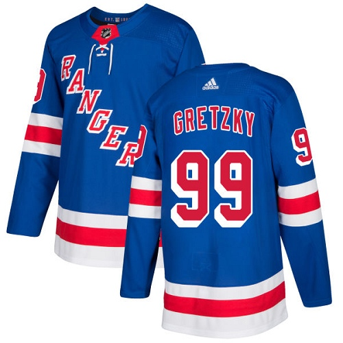 Adidas Men New York Rangers 99 Wayne Gretzky Royal Blue Home Authentic Stitched NHL Jersey