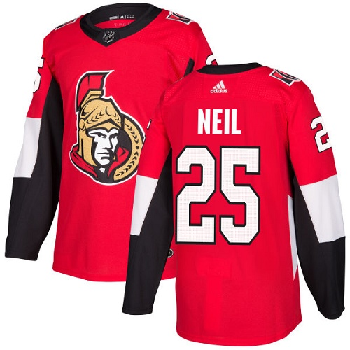 Adidas Men Ottawa Senators 25 Chris Neil Red Home Authentic Stitched NHL Jersey