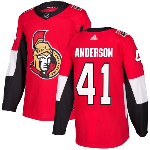 Adidas Men Ottawa Senators 41 Craig Anderson Red Home Authentic Stitched NHL Jersey