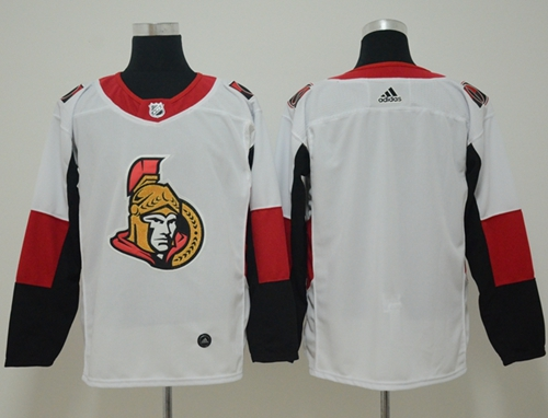 Adidas Men Ottawa Senators Blank White Road Authentic Stitched NHL Jersey