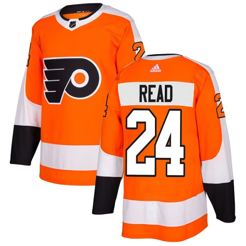 Adidas Men Philadelphia Flyers 24 Matt Read Orange Home Authentic Stitched NHL Jersey