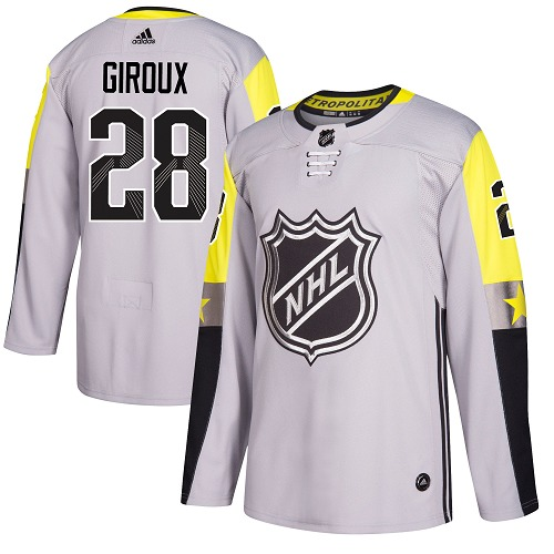 Adidas Men Philadelphia Flyers 28 Claude Giroux Gray 2018 All-Star Metro Division Authentic Stitched NHL Jersey