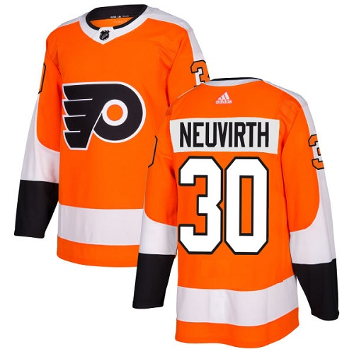 Adidas Men Philadelphia Flyers 30 Michal Neuvirth Orange Home Authentic Stitched NHL Jersey