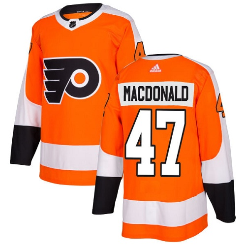 Adidas Men Philadelphia Flyers 47 Andrew MacDonald Orange Home Authentic Stitched NHL Jersey