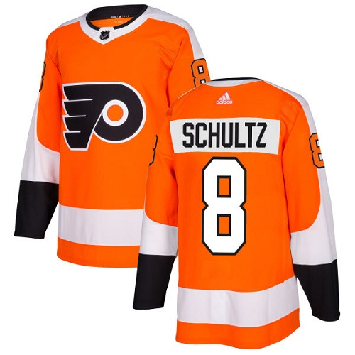 Adidas Men Philadelphia Flyers 8 Dave Schultz Orange Home Authentic Stitched NHL Jersey