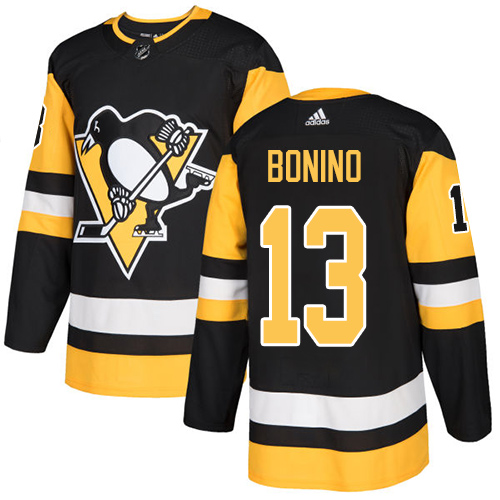 Adidas Men Pittsburgh Penguins 13 Nick Bonino Black Home Authentic Stitched NHL Jersey