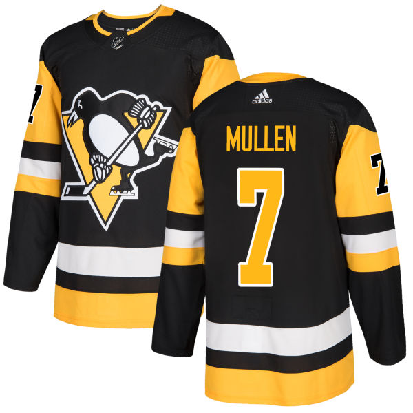 Adidas Men Pittsburgh Penguins 7 Joe Mullen Black Home Authentic Stitched NHL Jersey