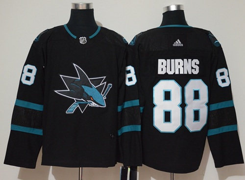 Adidas Men San Jose Sharks 88 Brent Burns Black Alternate Authentic Stitched NHL Jersey
