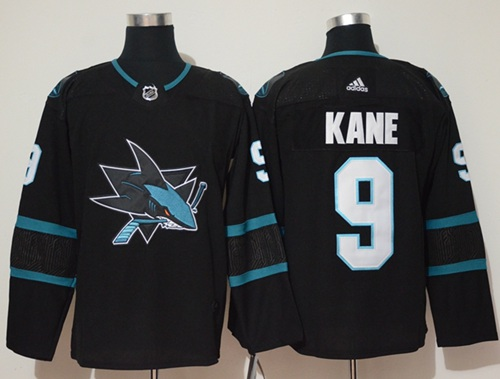 Adidas Men San Jose Sharks 9 Evander Kane Black Alternate Authentic Stitched NHL Jersey