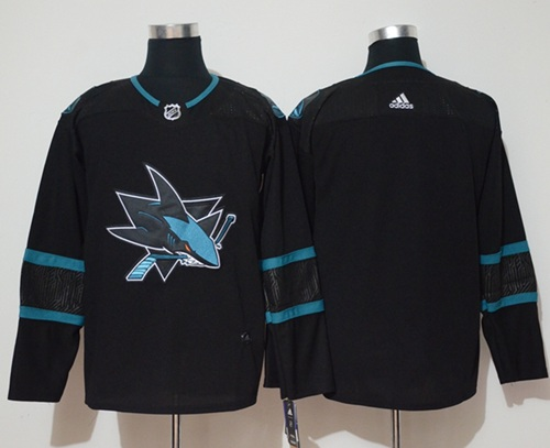 Adidas Men San Jose Sharks Blank Black Alternate Authentic Stitched NHL Jersey
