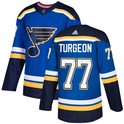 Adidas Men St.Louis Blues 77 Pierre Turgeon Blue Home Authentic Stitched NHL Jersey