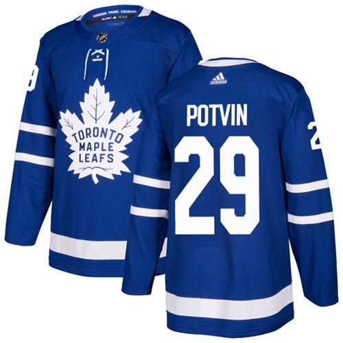 Adidas Men Toronto Maple Leafs 29 Felix Potvin Blue Home Authentic Stitched NHL Jersey