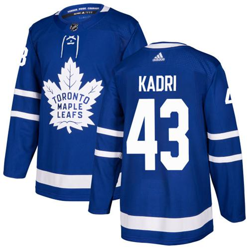 Adidas Men Toronto Maple Leafs 43 Nazem Kadri Blue Home Authentic Stitched NHL Jersey