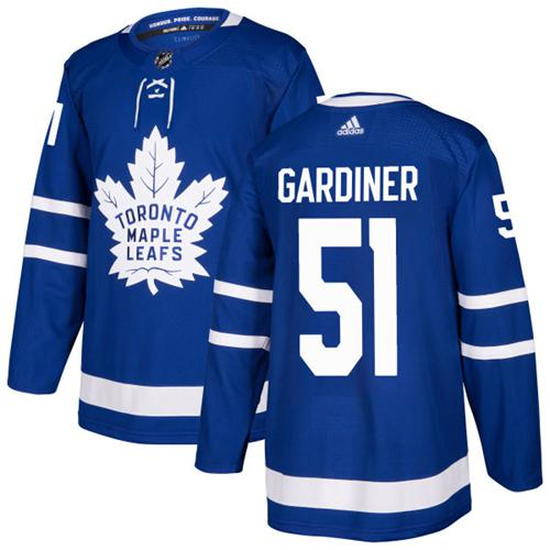 Adidas Men Toronto Maple Leafs 51 Jake Gardiner Blue Home Authentic Stitched NHL Jersey