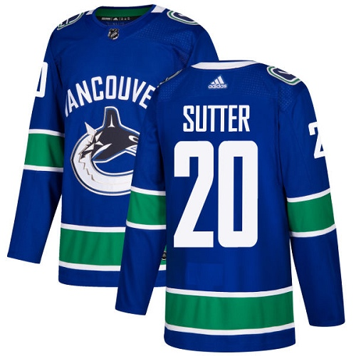 Adidas Men Vancouver Canucks 20 Brandon Sutter Blue Home Authentic Stitched NHL Jersey