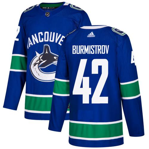 Adidas Men Vancouver Canucks 42 Alex Burmistrov Blue Home Authentic Stitched NHL Jersey