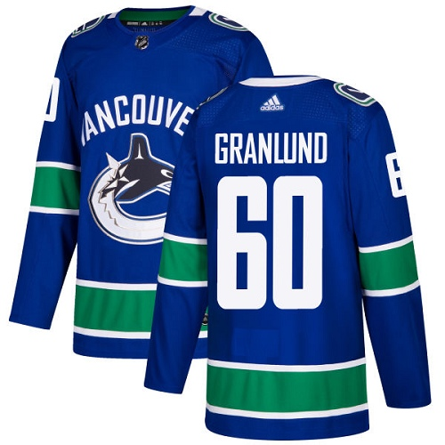 Adidas Men Vancouver Canucks 60 Markus Granlund Blue Home Authentic Stitched NHL Jersey
