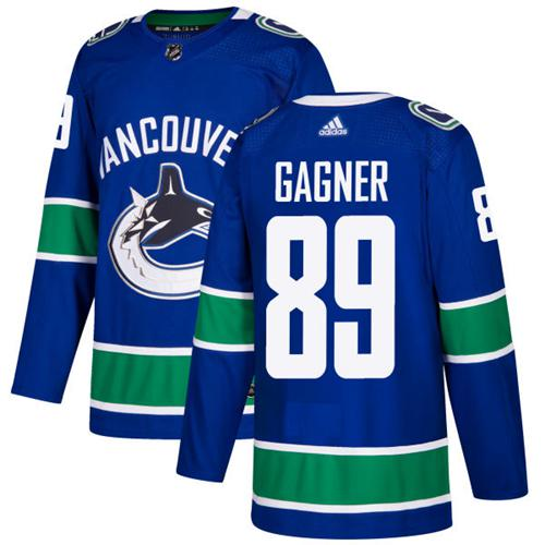 Adidas Men Vancouver Canucks 89 Sam Gagner Blue Home Authentic Stitched NHL Jersey