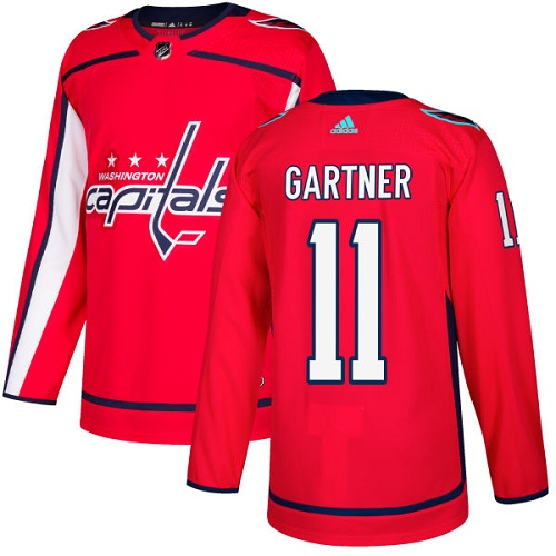 Adidas Men Washington Capitals 11 Mike Gartner Red Home Authentic Stitched NHL Jersey
