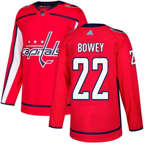 Adidas Men Washington Capitals 22 Madison Bowey Red Home Authentic Stitched NHL Jersey