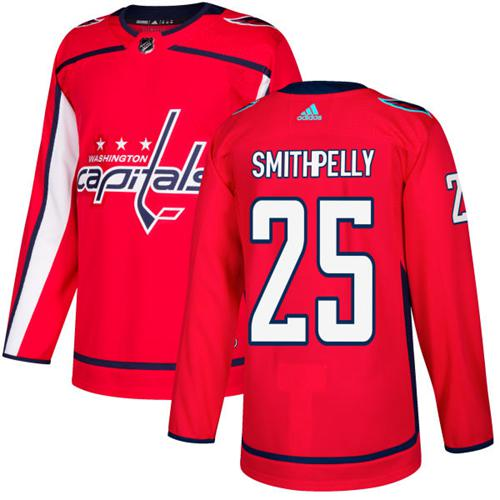 Adidas Men Washington Capitals 25 Devante Smith-Pelly Red Home Authentic Stitched NHL Jersey